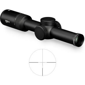 Vortex Viper PST Gen II 1-6x24 VMR2 Reticle Rifle Scope (MOA) - Low Capped Turrets