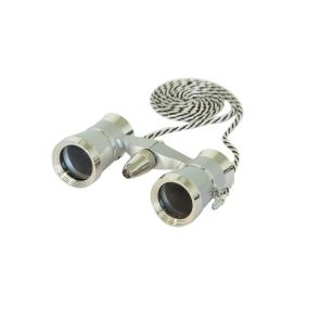 Saxon 3x25 Opera Glasses with Light - Silver