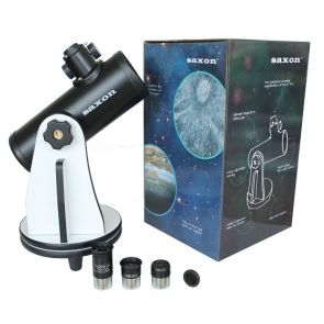 Saxon 76/300 Mini Dobsonian Telescope with Accessory Pack