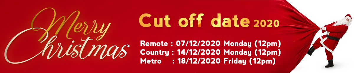Christmas Cut Off Date 2020