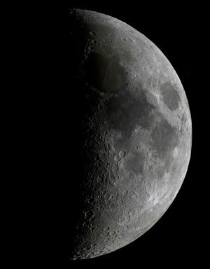 View of the Moon with a 6 inch aperture