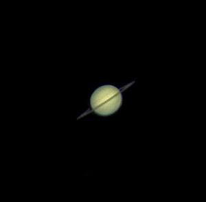View of Saturn with an 8 inch aperture