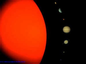 Complete view of the Solar System